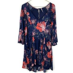 Free People Floral Bohemian Festival Mini Dress